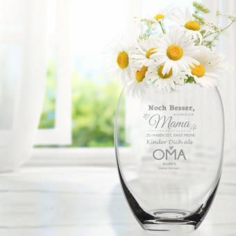Vase mit Gravur als Geschenkidee zum Muttertag