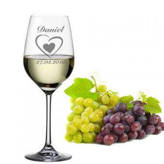 Weißweinglas gravieren