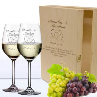 Wein-Geschenkset Hochzeit