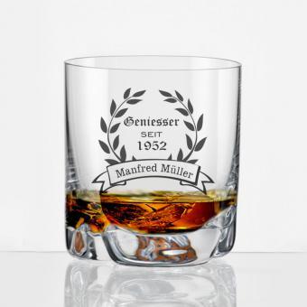 Whiskybecher mit Gravur Geniesser