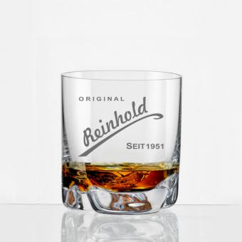 Whiskybecher mit Gravur Reinhold