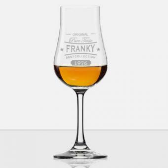 Graviertes Whisky Glas mit Stiel