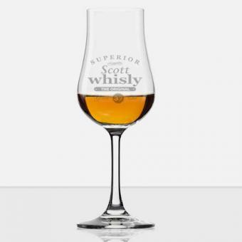 Whiskyglas mit Stiel mit graviertem Namen
