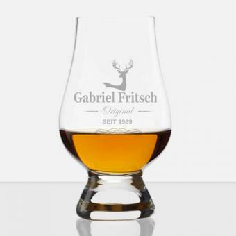 Stölzle Whiskyglas Glencairn mit Namensgravur