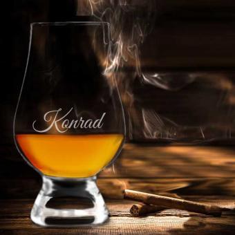 Edel graviertes Whiskyglas Glencairn mit Wunschname