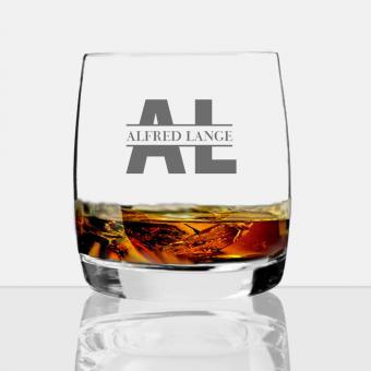 Whisky Glas mit Gravur des Namens