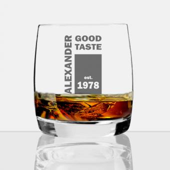 Whisky Glas mit Wunsch-Gravur