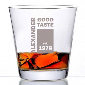 Whiskyglas mit Namens-Gravur