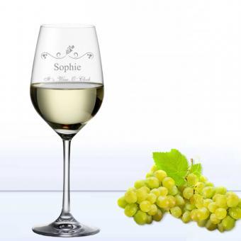 Weißweinglas WINE O CLOCK mit graviertem Namen