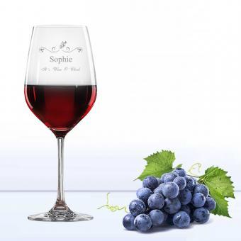 Rotweinglas WINE O CLOCK mit Namen