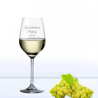 Weinglas mit individuellem Text