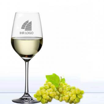 Weinglas mit Logo gravieren Weißwein