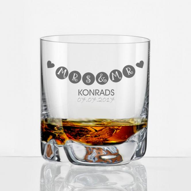 Whiskyglas zur Hochzeit mit persönlicher Gravur