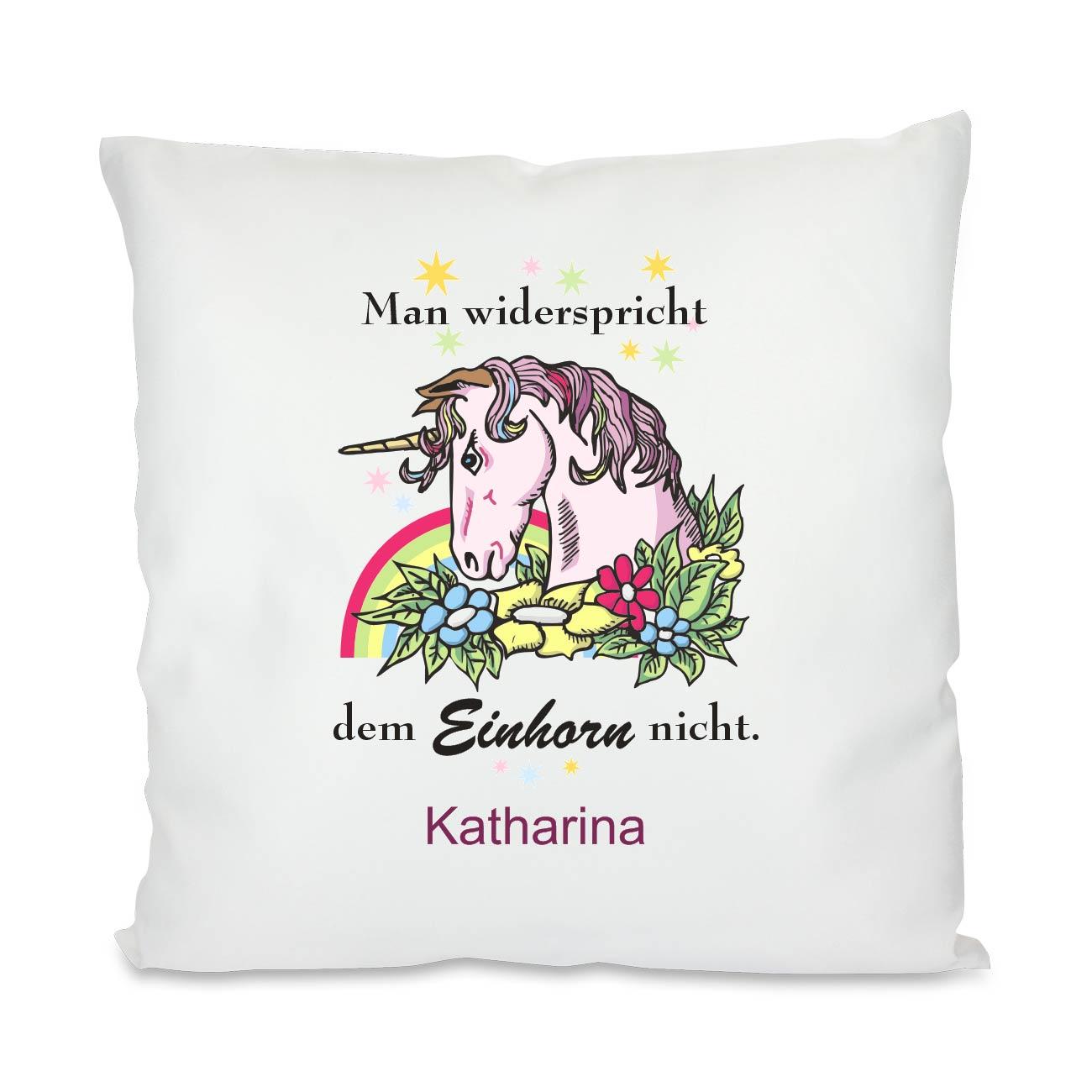 unicorn kissen mit deinem namen geschenkplanet. Black Bedroom Furniture Sets. Home Design Ideas
