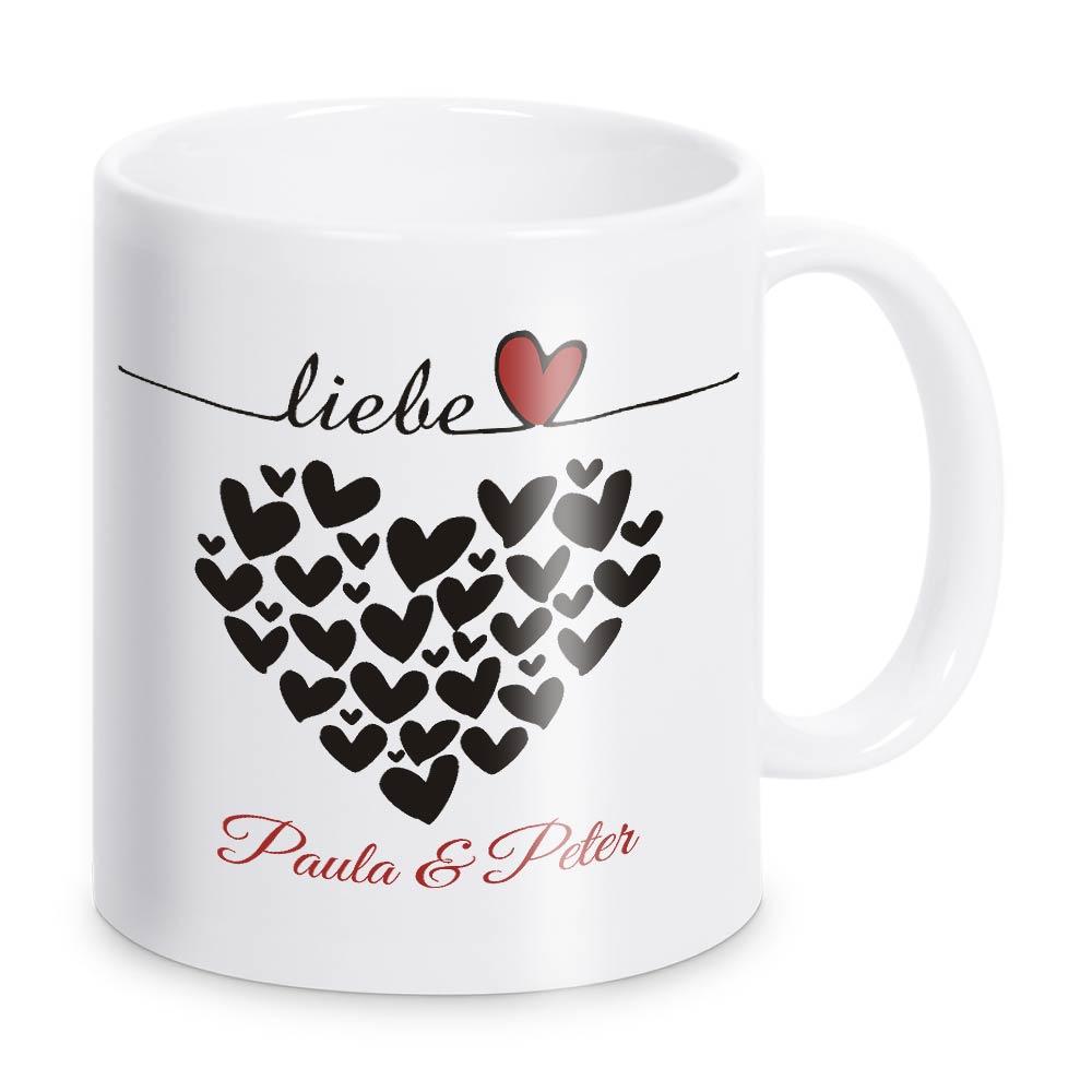 Set Zwei Schlüsselanhänger mit süße Tassen für Paare Zum Valentinstag