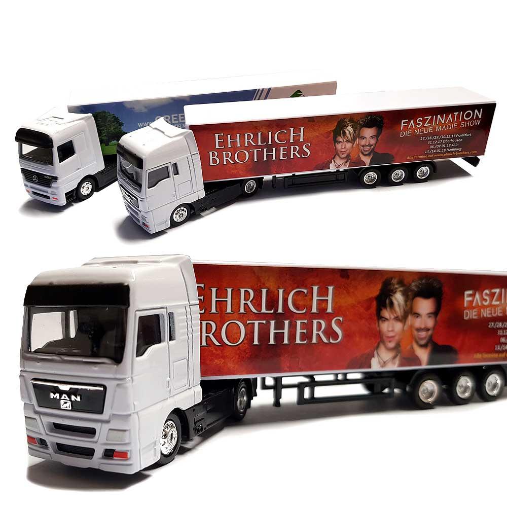 Modell LKW, Minitruck mit Logo als Werbegeschenk   Geschenkplanet