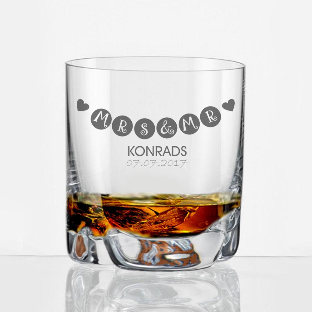 Whiskyglas zur Hochzeit mit persönlicher Gravur   Geschenkplanet